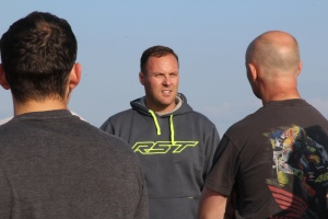 Steve Brogan gives instruction at one of his James Whitham motorcycle track training day events.