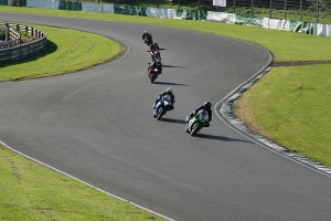 Riders on track at a James Whitham track training day at Mallory Park