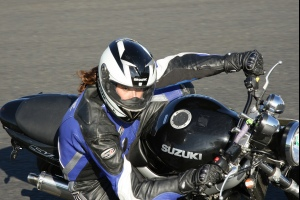 Rider on track at a James Whitham track training day at Mallory Park