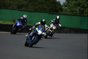On the track - James Whitham leads riders on one of his track training days.