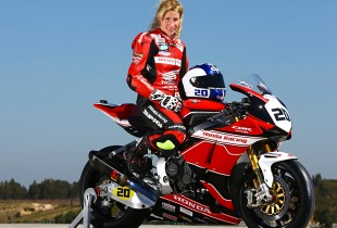 Jenny Tinmouth - James Whitham motorbike track training day coach.